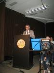 Der LAG-Vorsitzende Günther Bree begrüßt