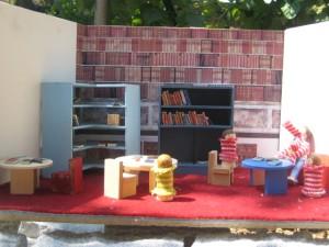 Diorama Schulbibliothek