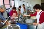 Vorbereitungen in der Mensa-Küche für 250 Teilnehmer