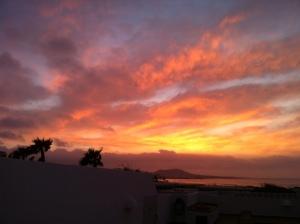 Sonnenuntergang im Norden Lanzarotes